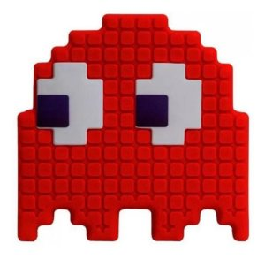 Luminária Abajur Fantasma Vermelho Pac Man - Fantasminha