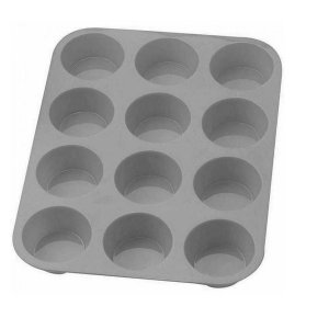 Forma De Silicone P/ Cupcake Petit Gateau Empada / Assadeira - Cinza