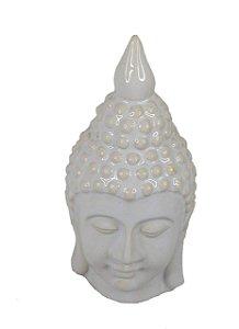 Enfeite Em Cerâmica Buda Branco - Decoração