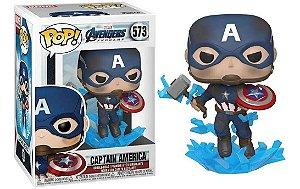 Boneco Funko Pop Avengers Endgame Capitão America Mjolnir 573