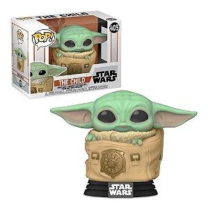 Boneco Funko Pop Mandalorian Baby Yoda With Bagthe Child 405