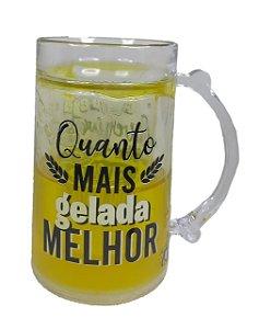 Caneca De Gel Congelável Em Acrílico Cerveja Chopp Quanto Mais Gelada Melhor