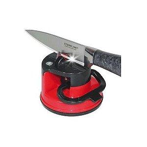 Afiador De Facas Amolador Tesoura Canivete Facão Ventosa
