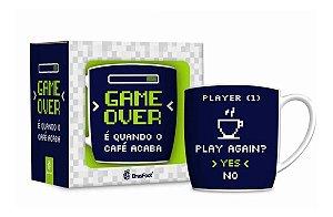 Caneca De Porcelana Game Over 360ml - Jogador