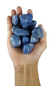 100 grs Quartzo Azul Pedra Rolada  Semi Preciosas 3-5 Grande