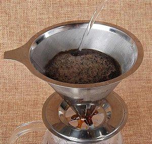 Coador De Café Pour Over Inox Tam. 103 - Não Precisa Filtro