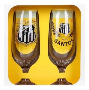 Conjunto Com 2 Taças De Cerveja Chopp Do Santos