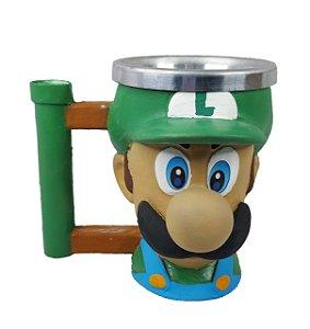 Caneca 3d Luigi Super Mario Bros Game - Copo