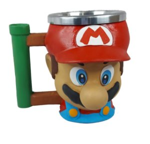Caneca 3d Mário Super Mario Bros Game - Copo