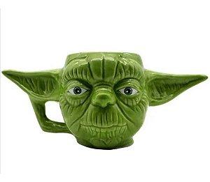Caneca 3d Porcelana Mestre Yoda Star Wars Disney 400ml