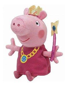 Boneca De Pelúcias Peppa Pig Princesa Com Coroa Antialérgico