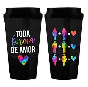 Copo Térmico Diversidade Lgbtqi Toda Forma De Amor 450ml