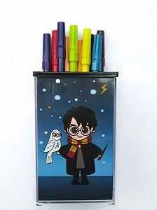 Porta Objetos Lápis Canetas Harry Potter - Organizador Treco