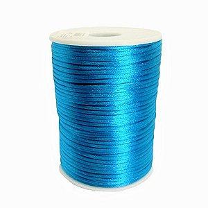 Cordão De Cetim Rabo Rato Rolo Fio 100 Metros X 1mm azul