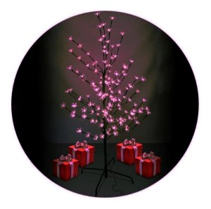 Luminária Árvore Flor Cerejeira 144 Leds Flores Abajur Grande Rosa