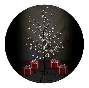 Luminária Árvore Flor Cerejeira 144 Leds Flores Abajur Branco Frio