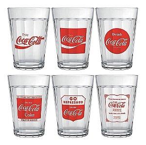 Jogo Com 6 Copos Americanos Linha Do Tempo Coca-cola