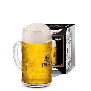 Caneca De Vidro Para Cerveja/Chopp Mass Eisenbahn De 610ml Transparente