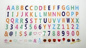 96 Caracteres / Letras Coloridas P/ Luminária Letreiro Cinema Light box A4