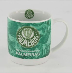 Caneca de Porcelana Decorada Palmeiras Porco 250ml