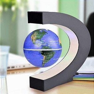 Globo Terrestre Magnético Flutuante Giratória