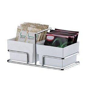 Organizador Porta Sachês/adoçante E Mexedor Inox