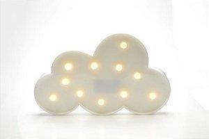 Luminária Led Nuvem Cores Abajur Leds Decoração Branca