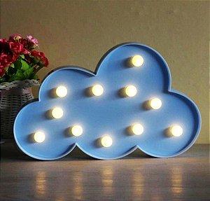 Luminária Led Nuvem Cores Abajur Leds Decoração Azul