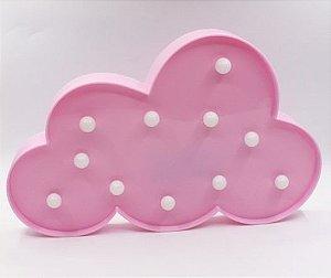 Luminária Led Nuvem Cores Abajur Leds Decoração Rosa