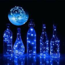 Fio Luz Fada Rolha Garrafa 20 Lâmpada Led 2 Metros Azul