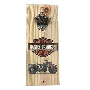Abridor de Garrafas Luxo Harley Davidson em MDF