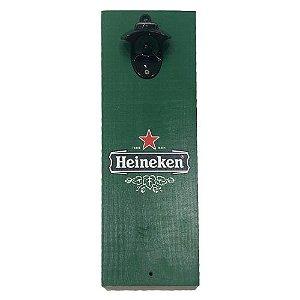Abridor de Garrafas Luxo Heineken em MDF