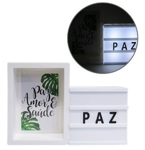 Light Box Com Porta Retrato Letreiro Led Letra Luminaria