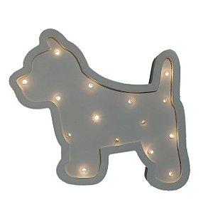 Luminária de Led em Madeira - Cachorro