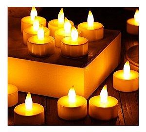 3 Velas De Led  A Bateria - Luz Branca Amarelada