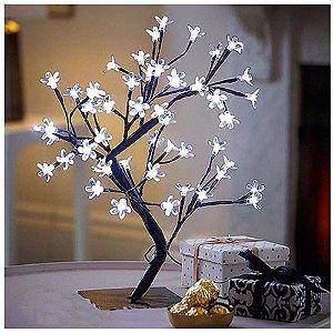 Luminária Árvore Flor De Cerejeira 48 Leds Abajur Bivolt - BRANCO FRIO