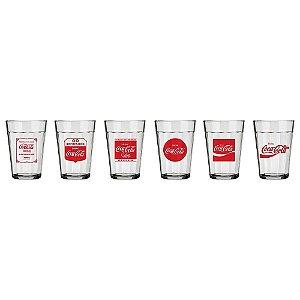 Conjunto De 6 Copos Americano Tempo Coca-cola 190ml Nadir