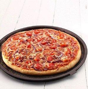 Forma Tapete E Folha Para Pizza Assadeira De Silicone 34cm