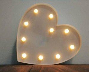 Luminária De Coração Led Grande P/ Mesa Ou Parede