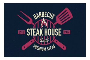 Tabua Em Vidro Barbecue Steak House Dynasty