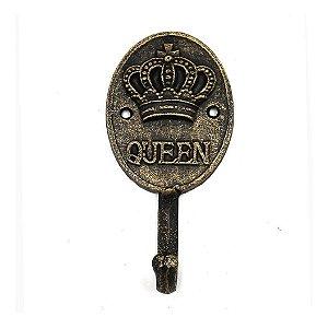Cabideiro De Ferro Queen Crown Urban Dourado