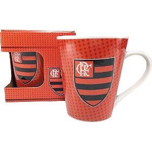 Caneca de Porcelana Decorada Flamengo Mengao 250ml
