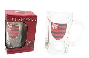 Caneca Chopp Cerveja Vidro Flamengo Mengao