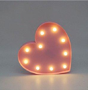 Luminária De Coração Led Grande P/ Mesa Ou Parede 27,5cm