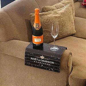 Esteira Sofá Porta Copo Bandeja Mdf Champagne Moët & Chandon