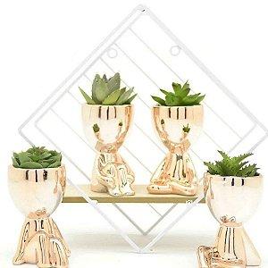1 Vaso Decorativo De Porcelana Robert / Bob Plant Do BBB Rosé