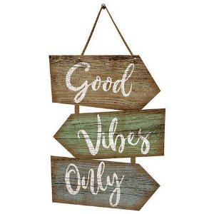 Placa Indicativa Decorativa Em Mdf - Good Vibes Only