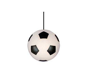 Luminária Pendente Bola De Futebol Quarto Infantil 25,5cm
