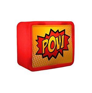 Luminária Abajur Lightbox 3d Usare Pow Vermelha
