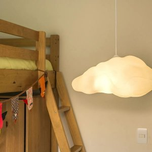 Luminária Pendente De Teto Nuvem Quarto Infantil Usare
